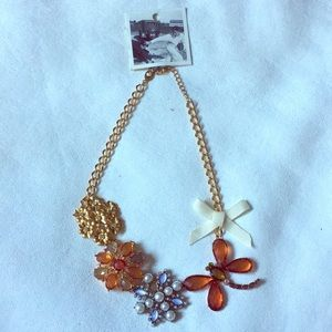 NWT Anthropologie Dragonfly Necklace
